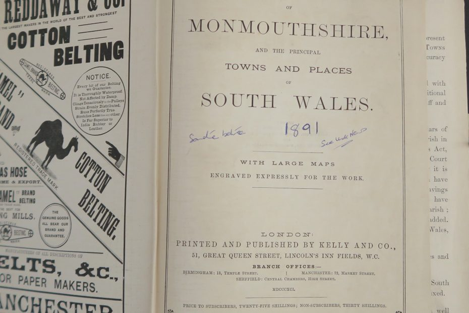 Directory - Monmouthshire & South Wales - Kelly's 1891
