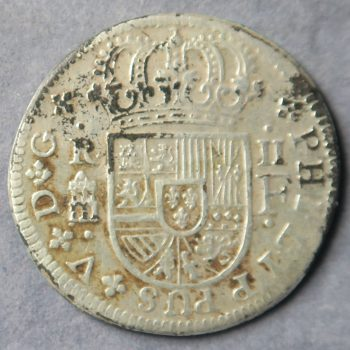 Contemporary Forgery of Spain 2 Reales 1719 Segovia