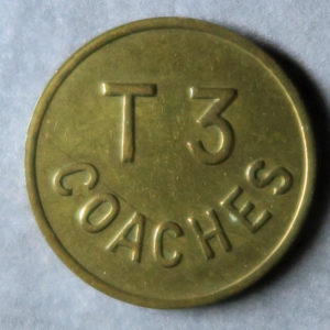 MB97089 Transport token, check, Property Of BAA T3 Coaches