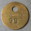 MB97319 Wales, mining check MOUNTAIN N.C.B. numbered 95