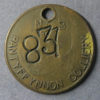 MB99047, Wales Colliery check token PANTYFFYNNON COLLIERY, N.C.B. ctm. S.W.DIV AREA 9
