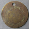 MB99082, Wales Colliery check token RIVER LEVEL COLLIERY, POWELL DUFFRYN'S, ABERNANT