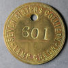 MB99098, Wales Colliery check token SEVEN SISTERS COLLIERY LAMP CHECK