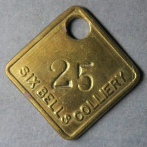MB99100, Wales Colliery check token SIX BELLS COLLIERY