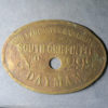 MB99104, Wales Colliery check token SOUTH GRIFFIN PIT, NO. DAY MAN, JOHN LANCASTER & CO. LIMITED