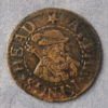 MB100064, 17th century token, London 2029A, Newgate Market, CT at the King's Head, 1/4d