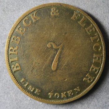 MB100250 Cumbria Mining token, Eaglesfield Lime Works no.7