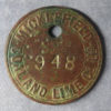 MB100317 Mining token check England Micklefield Coal and Lime Co., Ltd Yorkshire